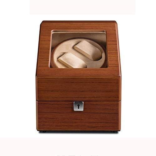 GUOOK GUOOK 2 + 3 Luxusuhren Automatik Uhrenbeweger Holz Aufbewahrungskoffer Deluxe Silent Motor Armbanduhrenbeweger Rotator mit Sperre 5 Modi