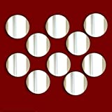 Decorative embellishments / CHRISTMAS Decoration- Pack of 10 CIRCLE Acrylic Mirrors (1.5cm each)