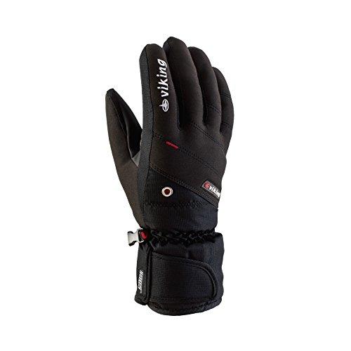 Viking Handschuhe Handschuhe Winter Skihandschuhe Damen - atmungsaktiv und wasserdicht- mit AQUA THERMO TEX Membrane - Torin, 09 schwarz, 7