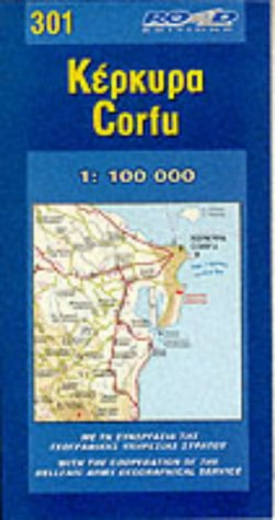 Corfou (301). : 1/100 000 par Road Ekdoseis AE