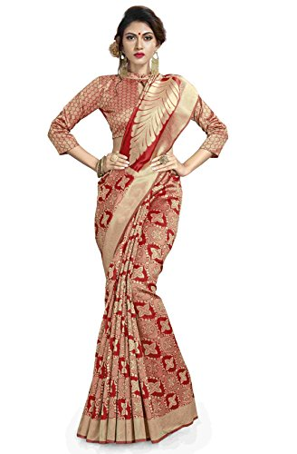 Sareeshop Tassar Silk Saree With Blouse Piece (Jq4301_Gold_Free Size)