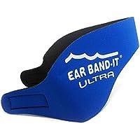 Ear Band-It Ultra - Cinta de neopreno para la cabeza, para natación, tamaño mediano (4 a 9 años de edad), True Blue, No Putty Buddies