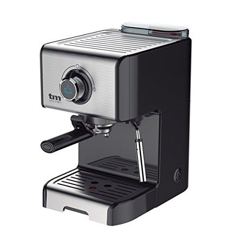 Tm Electron TMPCF101 Cafetera Espresso Manual con 15 Bares de Presión, Acero Inoxidable