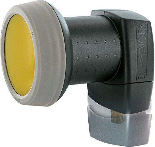 SCHWAIGER 319- Single LNB mit Sun Protect, 1-Teilnehmer, digital, extrem hitzebeständige LNB Kappe, Einsatz mit Satellitenschüssel, multifeed-tauglich mit Wetterschutz und vergoldeten Kontakten