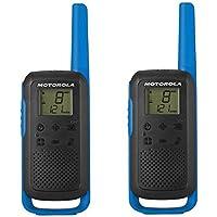 Motorola Talkabout T62 PMR Radio de Banda ciudadana (PMR446, 16 Canales y 121 Códigos, Alcance de 8 Km) … (Azul)