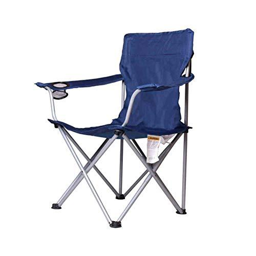 CJC Chaise Camping Poids Léger Pliant Portable Randonnée Chasse Pêche Pique-Nique BBQ (Couleur : Bleu)