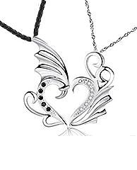Idea Regalo - Lui & Lei Coppie di angelo due pezzi Collana Cuore Ti amo regalo grande Fidanzata Fidanzato