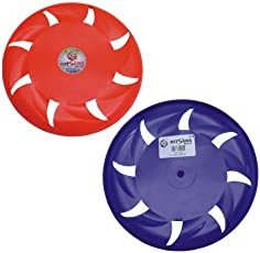 Flying Disc Frisbee, 8 inches,Multi Colour (Pack of 2)
