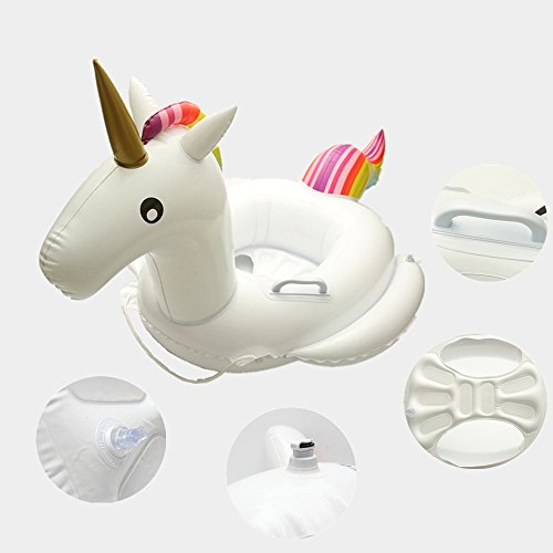 Preisvergleich Produktbild Kids Unicorn Swim Ring Trainer Water Float Seat Inflatable Pool Raft Baby (color)