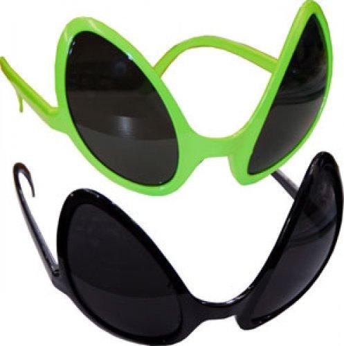 Alienbrille Alien Sonnenbrille Scherzartikel grün (Sonnenbrille Alien)