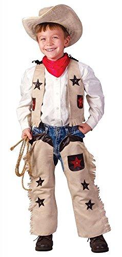 (shoperama Lil' Sheriff Cowboy Kostüm für Jungen 3-4 Jahre Kinderkostüm Western Kinder Wildwest)