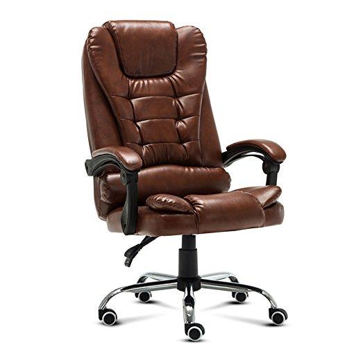 LightSeiEU/Home kann liegen ergonomischer Drehstuhl, Freizeit-Sitze, Bürostühle, Chefsessel, Kunstlederstühle, Computer Stühle (Farbe : Braun)