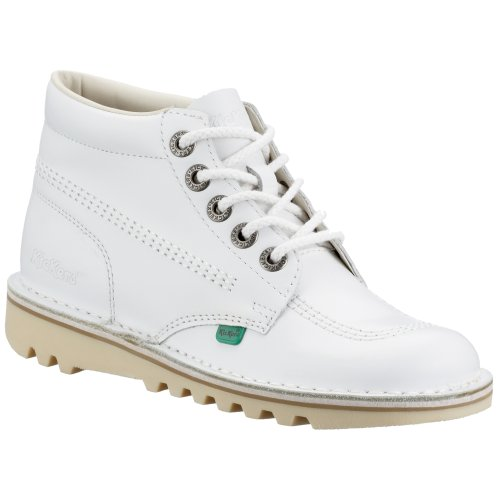 Kickers Kick Hi Core Botines Mujer, Blanco White/Natural, 40 EU 40 UK