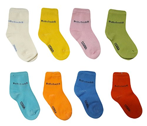 ESELPRO BABY BOYS GIRLS COTTON ANKLE LENGTH SOCKS 12-24 MONTHS (Set of 8 pairs) ASSORTED DESIGNS