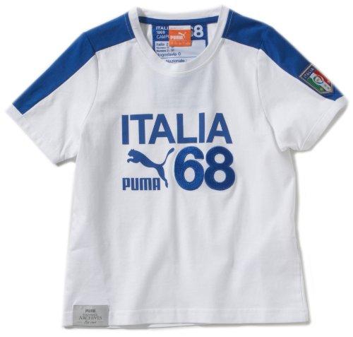 PUMA Kinder T-Shirt Football Archives T7 Ringer, white-figc, 176, 740805 02 (Kinder T-shirt Ringer Mädchen)