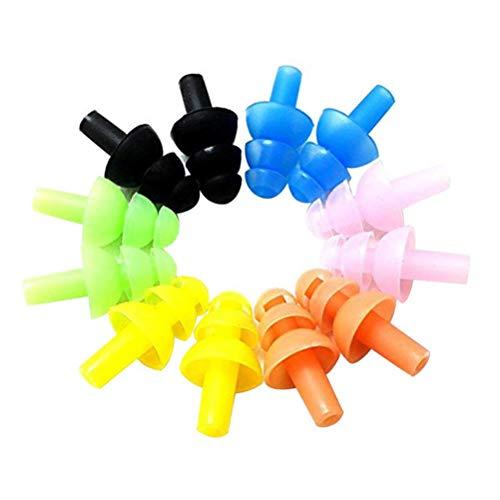 LHKJ 6 Stück wasserdichte Silikon Nasenklemme Ohrstöpsel Schwimmen Ausrüstung für Kinder und Erwachsene Schwimmen Sets