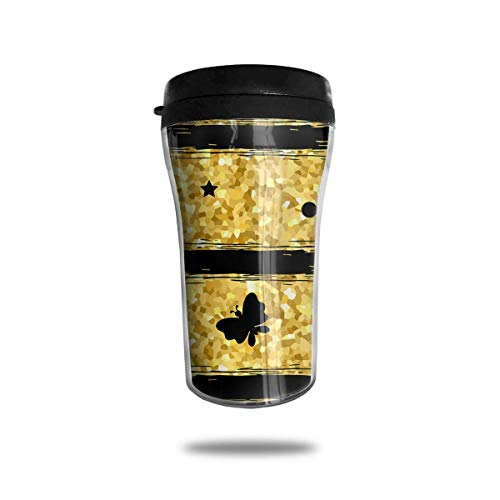 Gold Glitter 8.5 Oz Tumbler-Vacuum Insulated Double Stainless Steel Water Bottle Travel Coffee Mug Cup -