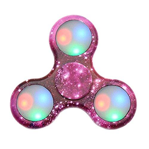 Emoji LED Light Fidget Hand Spinner, Luomike LED Light Fidget Hand Spinner Finger Toy EDC Focus Gyro Fast Shipping (F)