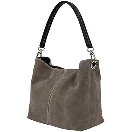 ofertas para el dia de la madre AMBRA–Bolso de cuero para mujer, WL807.