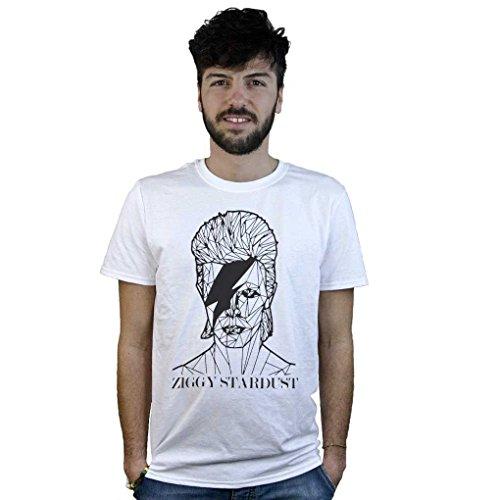 Preisvergleich Produktbild T-shirt Ziggy Stardust, T-shirt weiß Bowie, zeichnung stil rendern - Weiß, Small