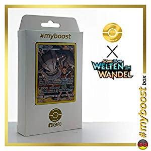 Stahlos (Steelix) 247/236 Full Art Secreta - #myboost X Sonne & Mond 12 Welten im Wandel - Box de 10 cartas Pokémon Alemán