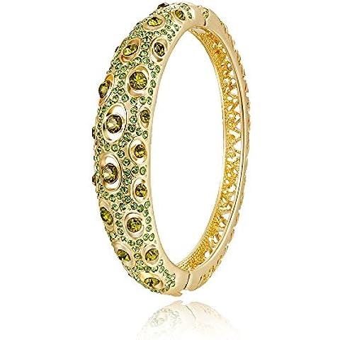 City Ouna® moda joyas Cubic Zirconia oro rosa cristal austriaco verde brazalete pulsera Swarovski elementos tenis joyería