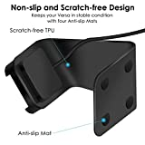 KIMILAR Charger Compatible with Fitbit Versa / Lite Edition, Premium Aluminum Charger Cable Charging Stand Dock Holder with 4.2 Feet Cable for Fitbit Versa & Lite Edition Smartwatch - Black