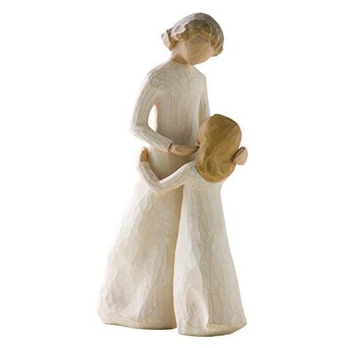 Willow Tree 26021 Figur Mutter und Tochter, Kunstharz, natur, 7,6 x 3,8 x 20,3 cm