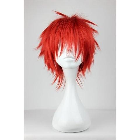 COSPLAZA traje de Cosplay pelucas de pelo corto rojo Halloween full con libre Cap basktball de Kuroko Akashi