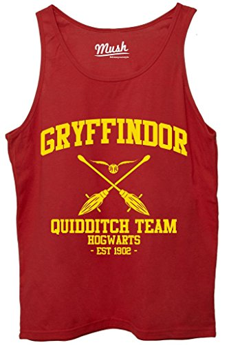 Canotta GRYFFINDOR QUIDDITCH HARRY POTTER - FILM by Mush Dress Your Style - Uomo-M-Rossa