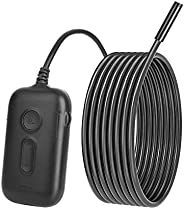 Wireless Endoscope Inspection Camera, Endoscope Camera IP67 Waterproof Wifi Borescope Snake Camera with 6 LED