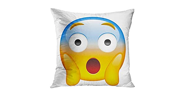 Emoji Pillow Case Face screaming in