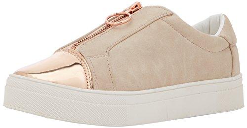 ICHI Damen A Lina Zip FW Sneaker Beige (Rose Dust)