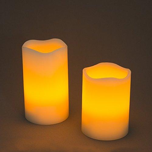 LED Echtwachskerze Wachskerze Doppelpack Dekoleuchte