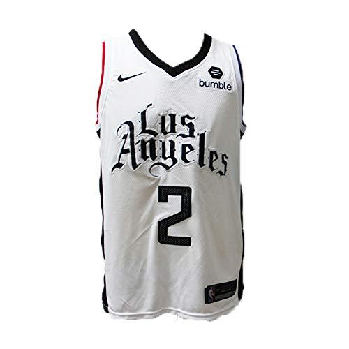 LAMBO Herren Basketball Trikot # 2 Kawhi Leonard Los Angeles Clippers, Leonard Mesh 2019 Basketball Swingman Trikot für Herren (Stadt Version) (S)