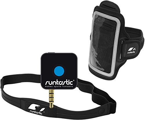 Runtastic Pro Phone App & Wireless Heart Rate Monitor Chest Strap Apple / Andoid (With Arm Band)