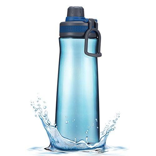 1L-Botella-de-Agua-Deporte-OMorc-Botella-Fabricado-Con-Un-Plstico-Tritan-Libre-de-BPA-No-Txico-Tiene-un-Doble-Cierre-de-Seguridad-un-Cordn-Para-Llevarla-en-Cualquier-Actividad-al-Aire-Libre-a-la-Playa