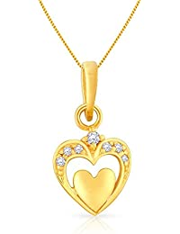 Malabar Gold and Diamonds 22KT Yellow Gold Pendant for Women