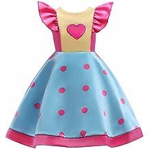 PZJ Vestido de Niñas, Vestido de Princesa para Fiesta Cóctel Vestido Algodón de Verano sin