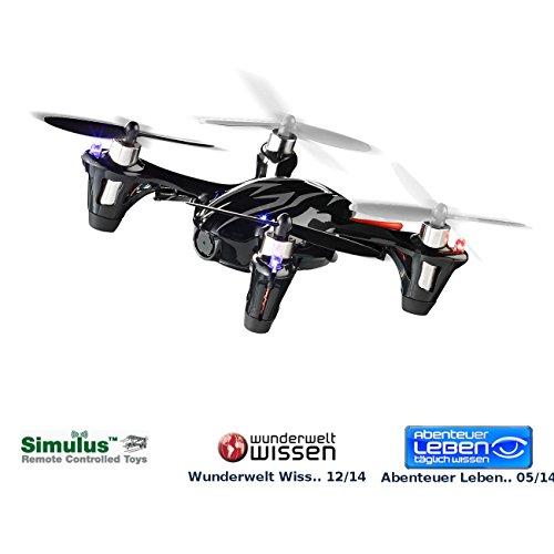 Preisvergleich Produktbild Simulus 4 Cam: 4-CH-Quadrocopter GH-3.CAM mit HD-Kamera & Funkfernsteuerung (Kamera Drohne)