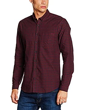 Lindbergh Herren Businesshemd Checked Oxford Shirt L/S