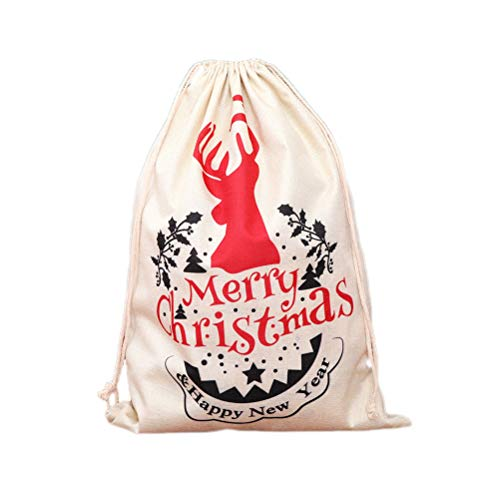 BESTOYARD Sacs de Toile de Jute noël Enfants Grands Sacs de Bonbons Portables Sac de Noce Cadeau de fête de Vacances