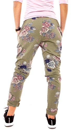 Easy Young Fashion - Pantalon - Relaxed - Femme Kaki