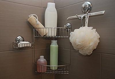 MaxHold Sistema de vacío Toalleros de aro - No-perforar - Acero inoxidable Nunca Moho - almacenamiento de la cocina&baño