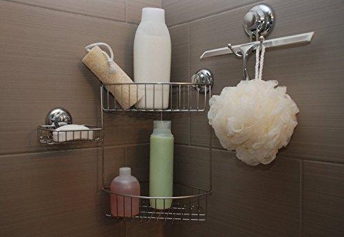 MaxHold Sistema de vacío La jabonera – No-perforar – Acero inoxidable Nunca Moho – almacenamiento de la cocina&baño