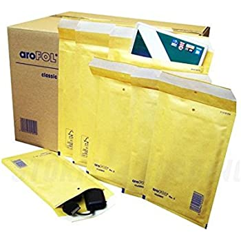 AKAR Padded Envelopes Bubble Lined Gold D//1 180X265mm Bubble Padded Mailers Cheap! 25