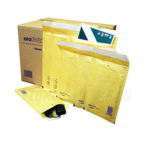 Padded Envelopes Size Internal : 175 x 265 mm//Size External : 200 x 275 mm Brown Bubble-Lined Bags 100 Pieces aroFOL Postal Air Cushion Mailing Bags