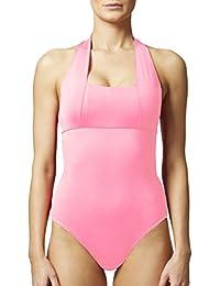 De la Mujer Tummy Control Adelgazante Shaping Halter Bañador/rosa
