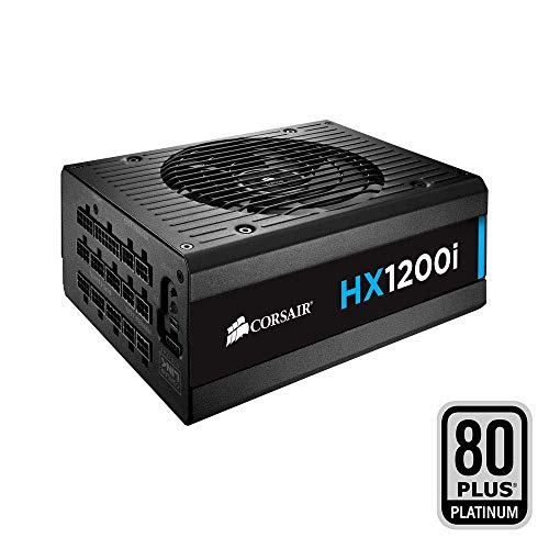 Corsair HX1200i PC-Netzteil (Voll-Modulares Kabelmanagement, 80 Plus Platinum, 1200 Watt, EU) (Platinum 750w Supply Power)