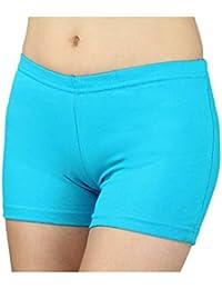 Cortocircuitos Hot Pants Pantalón corto de algodón Pantalones Cortos de Verano Deportivo Colorido para Mujer